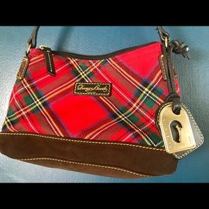 Dooney & Bourke small red plaid purse